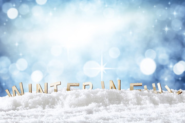 winter background with free space for an advertising product