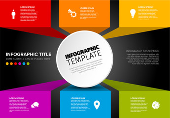 Infographic Layout with 3D Blocks