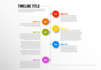 Multicolored Timeline Infographic Layout