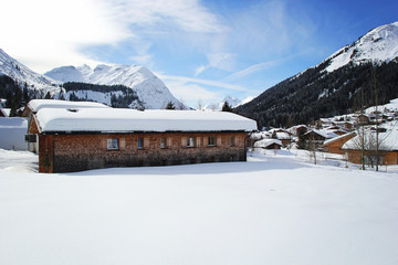 Winter House at the Mountains in Lech, Austria