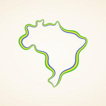 Brazil - Outline Map