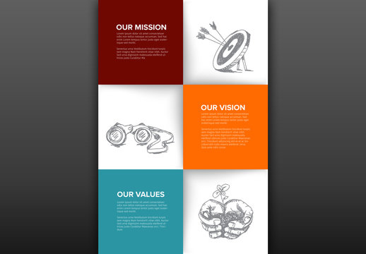Infographic Layout with Hand-Drawn Illustrations