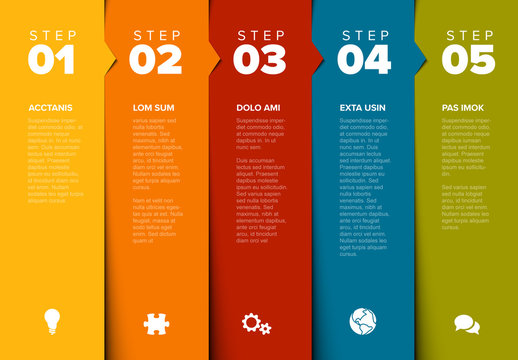 Infographic Layout with Overlapping Stripes