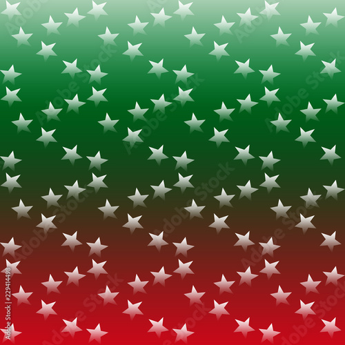 Stelle In Dissolvenza Su Sfondo Verde E Rosso Stock Photo And