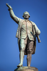 The statue of Captain James Cook in Hyde Park, Sydney, Australia