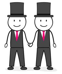 Homosexuelle Hochzeit / Homo Ehe / Zwei Männer / Heirat / Schwul