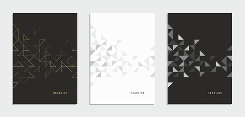 Abstract geometric technological brochure, flyer, corporate identity.