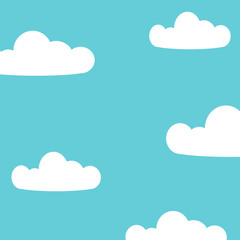Sky clouds background vector illustration.