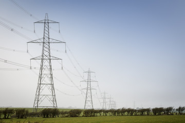 Electricity pylons in UK