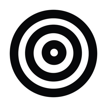 A black and white silhouette of a target