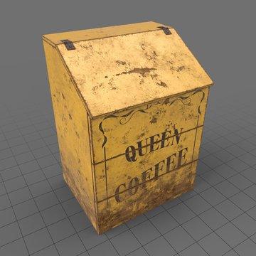 Antique coffee bin