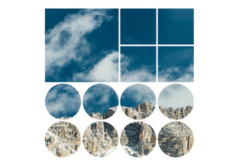 Grid Shape Photo Masks Set