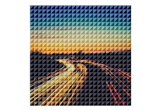 Photo Grid Overlay Effects Set