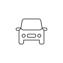 Car, auto line icon. Simple, modern flat vector illustration for mobile app, website or desktop app on gray background