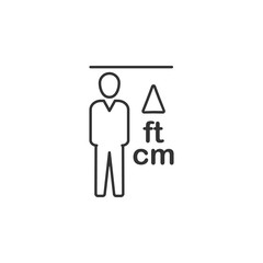 Height, man line icon. Simple, modern flat vector illustration for mobile app, website or desktop app