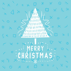 Merry Christmas typography.