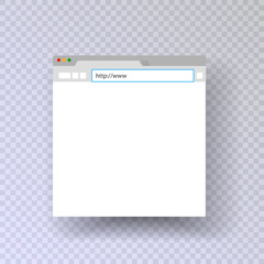 Browser window. template browser. Mock up mac browser. input string web links. vector isolated on a transparent background