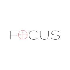 Focus text Logo Template