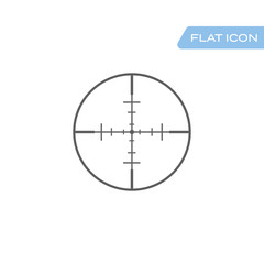 Target icon, sight sniper symbol isolated on white background,
