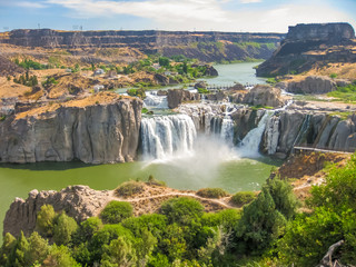 Foto auf AluDibond Wasserfalle Spectacular aerial view of Shoshone Falls or Niagara of the West, Snake River, Idaho, United States.