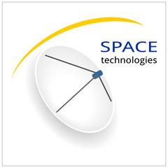 space antenna logo TV telecommunications technology radio television information astronomy