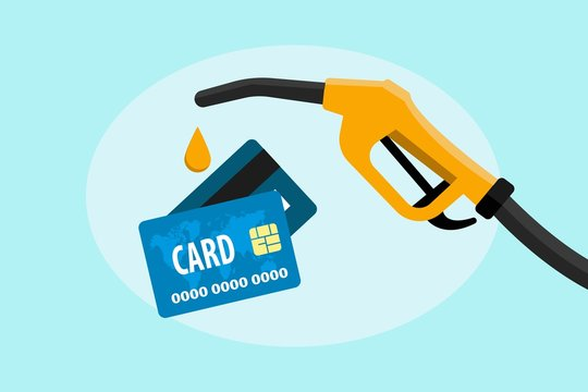Credit card in payment for petroleum