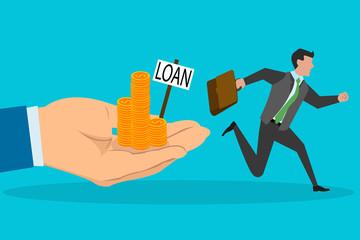 Man avoiding loan possibility