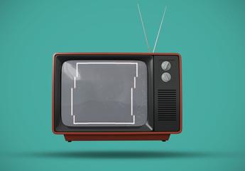 レトロなテレビ画面モックアップ