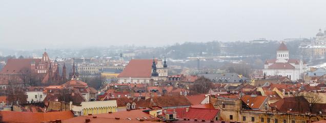 Fototapete - Old Vilnius churches