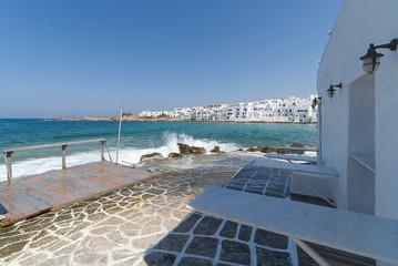 Naoussa village and harbor - Aegean Sea - Paros Cyclades island - Greece