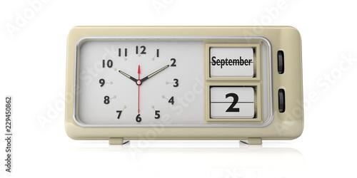 f881ecb76cf234 Labor Day 2019 on old retro alarm clock