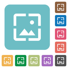 Wallpaper image rounded square flat icons