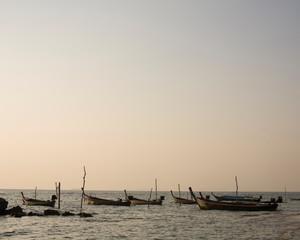 Empty rowboats