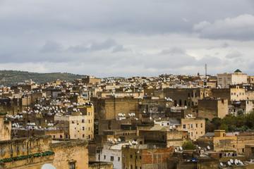 High angle view Morocco