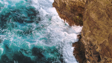 Wild Ocean water from above at the west coast of Ireland Wall mural