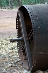Antiquated farm equipment at homestead, Wilpena Pound, South Australia