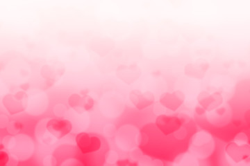 HEART SHAPE BOKEH BACKGROUND FOR GREETING CARD ON VALENTINE DAY OR WEDDING DAY