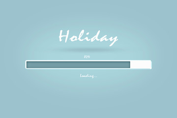 PROGRESS LOADING BAR OF HOLIDAY IN LIGHT BLUE TONE