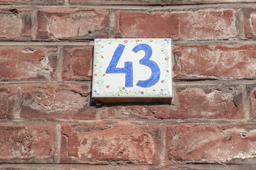 House numbers from France, Belguim, Sweden, Denmark, Finland and St Petersburg