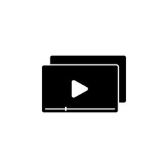 View videos icon. Element of marketing. Premium quality graphic design icon. Signs and symbols collection icon for websites, web design, mobile app