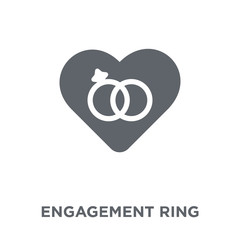 Engagement ring icon from Wedding and love collection.