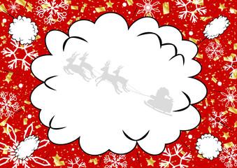 クリスマス 吹出し 雪の結晶