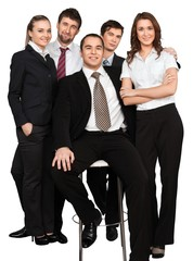 Fototapete - group of young professionals