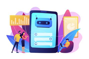 Wall Mural - Chatbot customer service concept vector illustration.