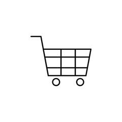 shopping cart icon. Element of simple web icon. Thin line icon for website design and development, app development. Premium icon