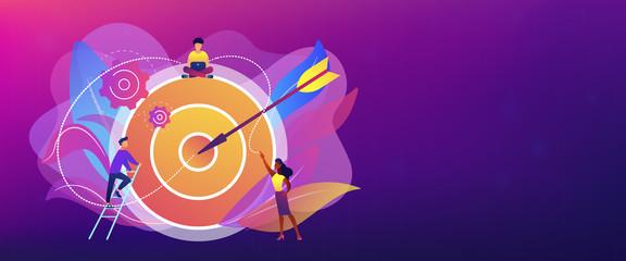 Goals and objectives concept banner header.