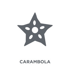 Carambola icon from Fruit and vegetables collection.
