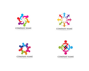 Unity people logo and symbol vector