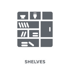 Shelves icon from Furniture and household collection.