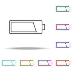 battery icon. Elements of photography in multi color style icons. Simple icon for websites, web design, mobile app, info graphics